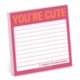Knock Knock You`re Cute Sticky Note | auteur onbekend |