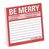 Knock Knock be Merry Sticky Note