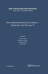 Microelectromechanical Systems - Materials and Devices IV | auteur onbekend |