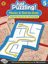 Mazes & Dot-To-Dots, Ages 5 -
