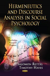Hermeneutics and Discourse Analysis in Social Psychology