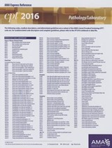 CPT 2016 Express Reference Coding Card Pathology/Laboratory | American Medical Association |