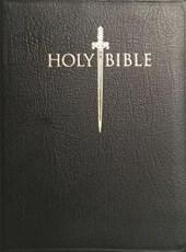 Kjver Sword Study Bible Giant Print Black Genuine Leather Indexed