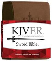Kjver Sword Study Bible Giant Print Dark Brown Light Brown Ultrasoft