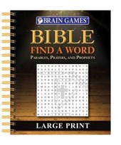 Brain Games Large Print Bible Find a Word