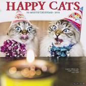 Happy Cats 2018 Wall Calendar