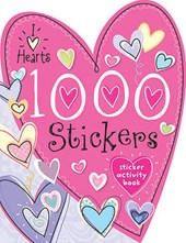 1000 Stickers I Love Hearts