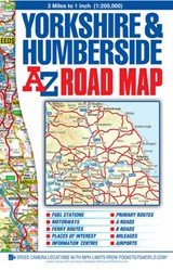 Yorkshire & Humberside Road Map | auteur onbekend |
