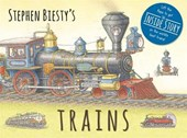 Stephen biesty's trains : cased board book with flaps