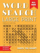 Word Search Large Print (Orange)