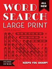 Word Search Large Print (Red) | Daisy Seal |