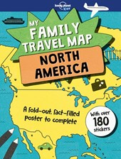Lonely planet: my family travel map - north america (1st ed)