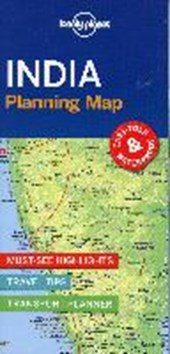 Lonely planet: india planning map (1st ed)