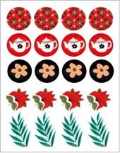 Folk art boxed notecards: 12 notecards + envelopes