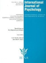 Special Issue on The Indigenous Psychologies | auteur onbekend |