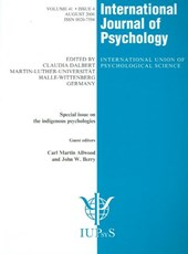 Special Issue on The Indigenous Psychologies