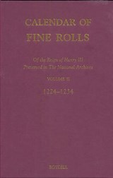 Calendar of the Fine Rolls of the Reign of Henry III | auteur onbekend |