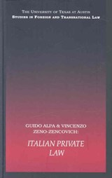 Italian Private Law | Alpa, Guido ; Zeno-Zencovich, Vincenzo |