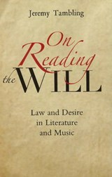 On Reading the Will | Jeremy Tambling |