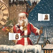 Snowy Santa Claus advent calendar (with stickers) |  |