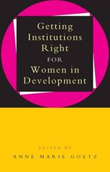 Getting Institutions Right for Women in Development |  |