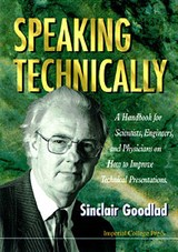 Speaking Technically | Sinclair Goodlad |
