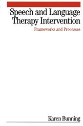 Speech and Language Therapy Intervention