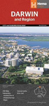 Darwin and Region City and Suburbs Road Map 1 :
