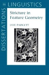 Stricture in Feature Geometry | Jaye Padgett |