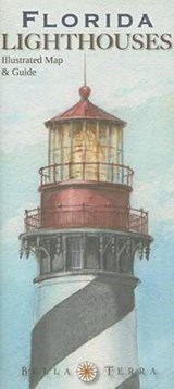Florida Lighthouses Illustrated Map & Guide | Bella Stander |