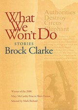 What We Won't Do | Brock Clarke |