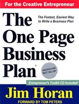 The One Page Business Plan for the Creative Entrepreneur | Horan, James T., Jr. |