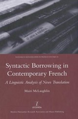 Syntactic Borrowing in Contemporary French | Mairi Mclaughlin |