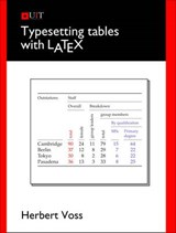 Typesetting Tables With Latex | Herbert Voss |