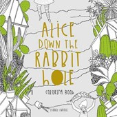 Alice Down The Rabbit Hole Colouring Book