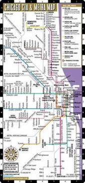 Streetwise Chicago CTA & Metra Map - Laminated Chicago Metro Map - Folding Pocket Size Map for Travel
