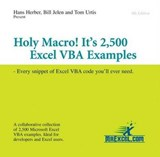Holy Macro! It's 2,500 Excel Vba Examples | Herber, Hans ; Jelen, Bill ; Urtis, Tom |