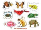 Charley Harper Peg Puzzle