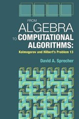 From Algebra to Computational Algorithms | David a. Sprecher |