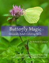 Butterfly Magic Grayscale Adult Coloring Book