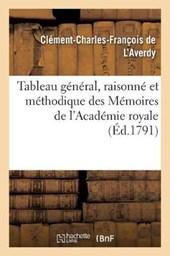 Tableau General, Raisonne Et Methodique Des Memoires de L'Academie Royale