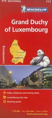 Michelin Grand Duchy of Luxembourg Road and Tourist Map