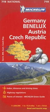 Michelin Germany, Benelux, Austria, Czech Republic Road and Tourist Map