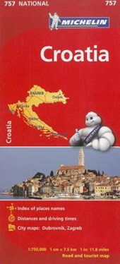 Michelin Croatia Road and Tourist Map