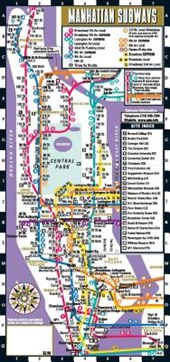 Streetwise Manhattan Bus Subway Map - Laminated Subway & Bus Map of Manhattan, New York