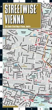Streetwise Vienna Map - Laminated City Center Street Map of Vienna, Switzerland