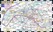 Streetwise Paris Metro Map