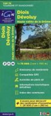 IGN 75 000 Touristische Wanderkarte 09 Diois - Devoluy - Haute Vallée de la Drôme