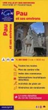 Pau mit Umgebung 1 : 80 000 Freizeitkarte