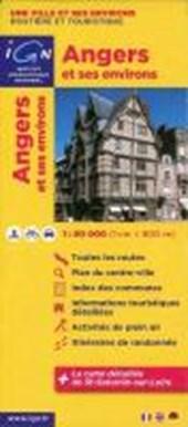 Angers und Umgebung 1 : 80 000 Freizeitkarte